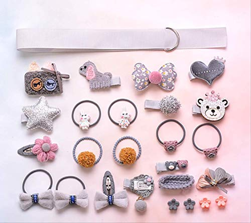 Accessoires De Cheveux Pour Enfants 24Pcs Set Sweet Style Petite Fille En Épingle À Cheveux Princesse Bijoux Chapeaux/E