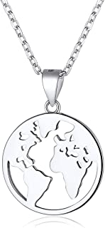 Women Men Handmade Coin Necklace 925 Sterling Silver Vintage Dainty Disc Pendant Necklaces, Gold/Silver(with Gift Box)