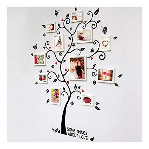 huichang - Adhesivo decorativo para pared, diseño de árbol de fotos, decoración del hogar, adhesivo de pared, diseño de árbol