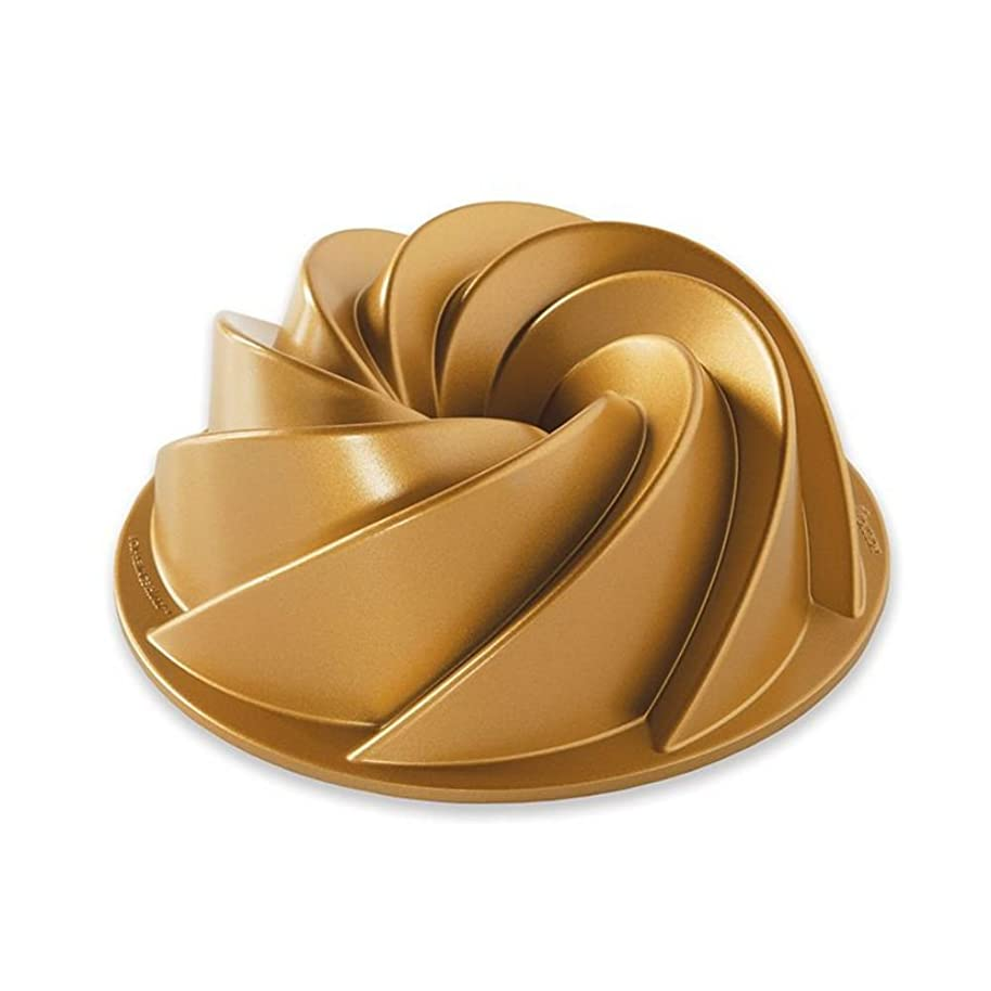 Nordic Ware 90077 Heritage Bundt 6 Cup, Gold
