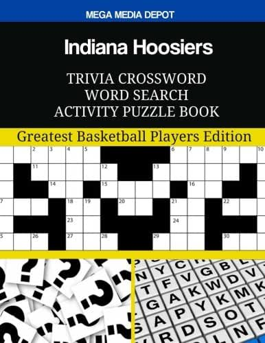 Indiana Hoosiers Trivia Crossword Word Search Activity Puzzle Book