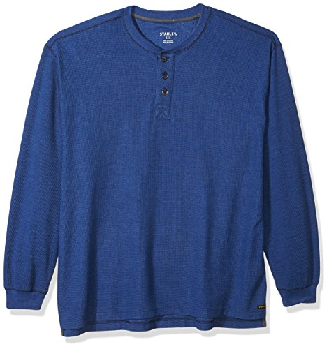 Stanley Herren Arbeitskleidung Big Size Thermo Henley mit Unterarm-Zwickel - Blau - 3X-Groß
