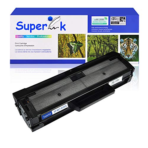 SuperInk 1 Pack Compatible Toner Cartridge Replacement for Samsung MLT-D101S D101S 101S MLTD101S Black Use in ML-2166W ML-2160 ML-2165 SCX-3405W ML-2165W SCX-3405FW SCX-3400 SCX-3401FH Printer