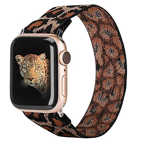 TOYOUTHS Leopard Pattern Apple Watch Strap