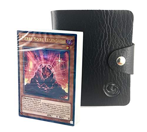 Deck Légendaire en Version française au Choix avec 1 Porte-Cartes Format Universel Lagiwa® (Dragon Noir Aux Yeux Rouges)
