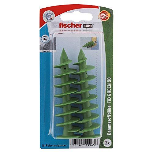 fischer 524841 K, Inhalt: 2 x Dämmstoffdübel FID Green 90