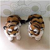 1 par Modelo de simulación de Tigre Tigre Modelo Estatuilla Realista del Animal Salvaje for Crafts Inicio la decoración del jardín ZHNGHENG
