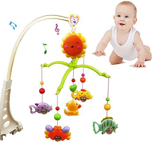Giostrina, Jinm lovely Baby Music comodino Bell, cartoon presepe Hanging Bell, rotazione di 360°...