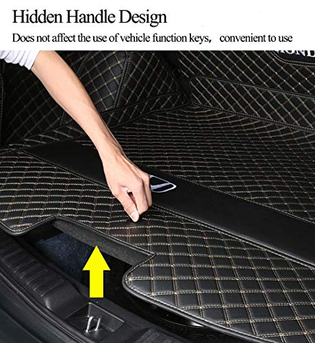 Worth-Mats Cargo Liner Trunk Mat for Mercedes Benz GLE SUV Before 2020 - Weatherbeater, 3D Laser Largest Coverage Black