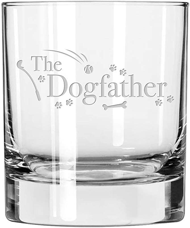 Dog Lover Gifts The Dogfather Whiskey Glass For Dog Dads