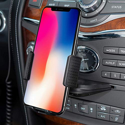 Car Phone Mount, Amoner CD Slot Phone Holder Universal CD Phone Mount Cell Phone Holder for Car Compatible with iPhone 11/11Pro/Xs MAX/XR/XS/X/8/8Plus, Galaxy S10/S10+/S10e/S9/S9+/N9/S12, Google