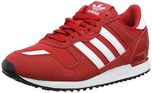 Adidas ZX 700, Men's Sports Shoes, Red (Scarlet/ftwr White/core Black), 8 UK