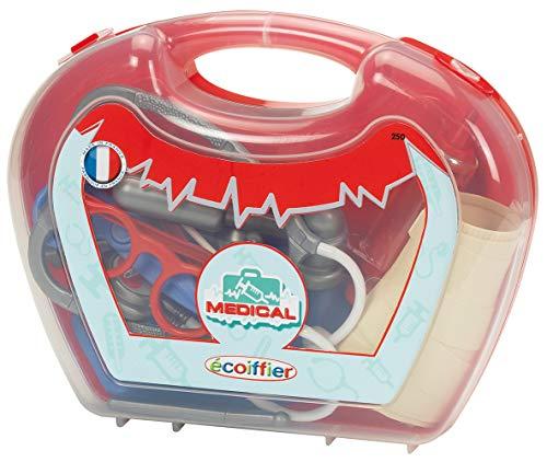 Jouets Ecoiffier – 250 - La malette de docteur pour enfants Médical – Jeu d'imitation – Dès 18 mois – Fabriquée en France