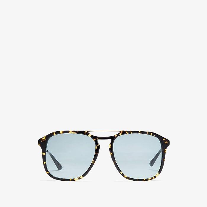 Gucci  GG0321S (Gold/Black) Fashion Sunglasses