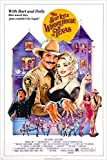 HSE 1982 THE BEST LITTLE WHOREHOUSE IN TEXAS movie poster DOLLY PARTON 24X36 sexy (reproduction, not an original)