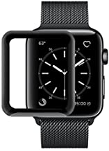 Market Affairs iWatch Full Glue Screen Protector 42mm, [3D Full Coverage] [Anti-Scratch] [High Definition] Tempered Glass Screen Protector for Apple Watch 42mm Series 3/2/1 (Black)