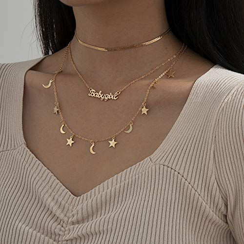 Wekicici Gold Letter Necklace for Women and Girls...