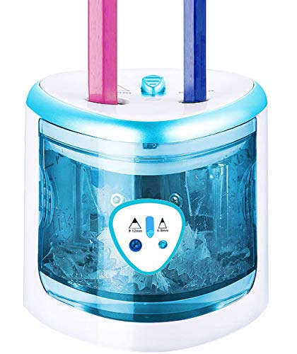 (BLUE) - Electric Pencil Sharpener With Battery Operated, Pencils Sharpener Automatic Supplies For Kids Desk, Electric Sharpener For Coloured Pencils By ARPDJK