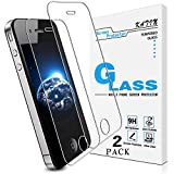 [2-Pack] KATIN For Apple iPhone 4S, iPhone 4 Japan Tempered Glass Screen Protector No-Bubble, 9H Hardness, Easy to Install