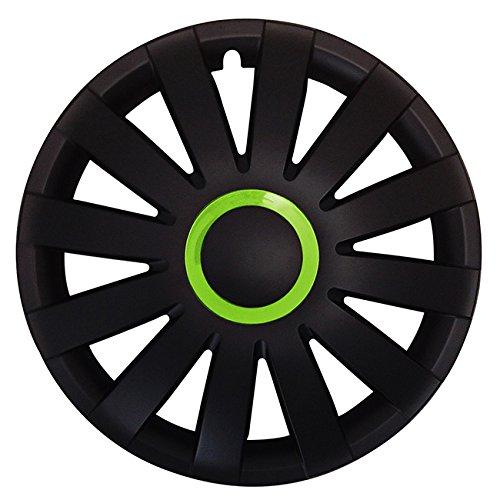 Eight Tec Handelsagentur (Größe wählbar) 14 Zoll Radkappen/Radzierblenden AGAT Race GRÜN passend für Fast alle Fahrzeugtypen – universal