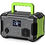 Portable Power Station 300W , 288Wh/78000mAh Camping Backup Lithium Battery, 110V Pure Sine Wave AC Outlet, QC 3.0 USB Port,Type-C PD Port, 12V/24V DC Outdoor Solar Generator