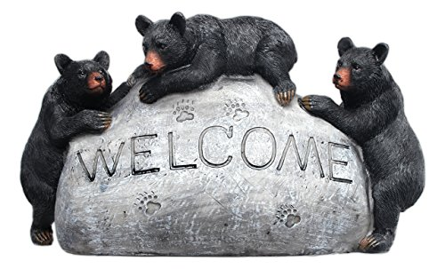 Mayrich Co. 8' x 5' Black Bear Welcome Decorative Faux Stone