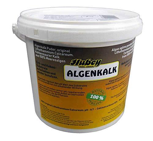 Hubey Algenkalk - 5kg Eimer - 100% Rotalge - fein vermahlen - Bodenverbesserer - für Biologische...