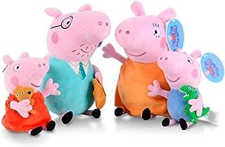AM ANNA 4Pcs/set Peppa Pig Stuffed Plush Toy 25/30cm Peppa George Pig Family Party Dolls Toys Animal Plush Toys