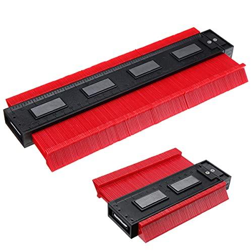 Landa tianrui Bricolaje y Herramientas Métrica magnética de 5 y 10 Pulgadas Métrica magnética e Imperial Contorno Forma Herramienta de carpintería.