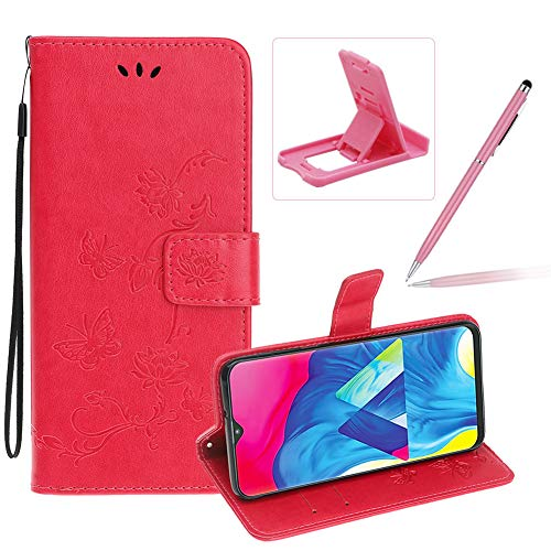 Fantastic Prices! Strap Leather Case for Samsung Galaxy M30,Hot Pink Wallet Leather Cover for Samsun...