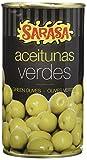 Sarasa Aceitunas Verdes Manzanilla con Hueso - Paquete de 12 x 350 gr - Total: 4200 gr