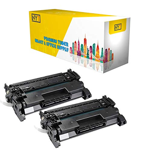 NYT Compatible Toner Cartridge Replacement for HP CF226X (HP 26X) for HP Laserjet Pro M402d, M402dn, M402n, Laserjet Pro MFP M426dw, M426fdn, M426fdw (Black, 2-Pack)