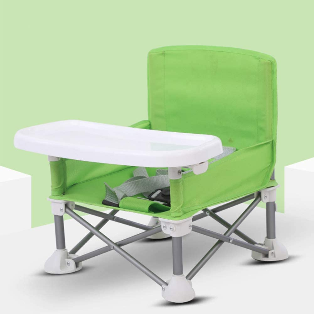 POHOVE Travel Booster Seat with Tray for Baby Portable Foldable High Chair Toddler Seat for Eating Folding Feeding Booster Seat for Indoor//Outdoor Aluminum Alloy Children Dining Chair