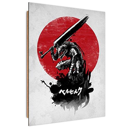 Feeby Dessin par DDJVIGO Image imprimée - 70x100 cm - Gris Rouge