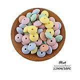 Mamimami Home 50PC Cuentas de silicona Color pastel suave del caramelo Grado de...