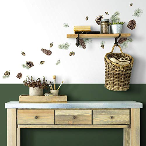 RoomMates Acorn And Pinecone Peel And Stick Wall Decals