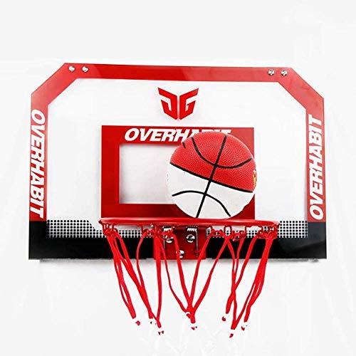XIUYU Mini Basketballkorb, über der Tür Wandmontage Spielzeug Rückenbrett Basket Haken Indoor Outdoor Basketball Plate Set for Erwachsene und Kinder Spielen
