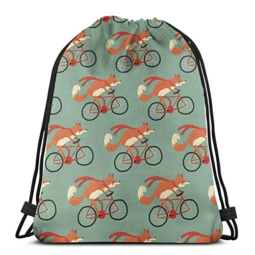 ES On Bicycle Drawstring Bapa Bag Sport Gym Sapa Impermeable Hombres Mujeres Cincha Bolsa para Viajes Yoga Playa Escuela