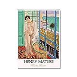 Decoración abstracta para el hogar, pintura artística en lienzo, Henri Matisse, cartel de edad femenina, pintura de pared, lienzo decorativo, pintura A1 30x40cm