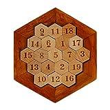 Larcele Hexágono Matemático de Madera Puzzle numérico Sudoku Juego de Mesa FWPP-01