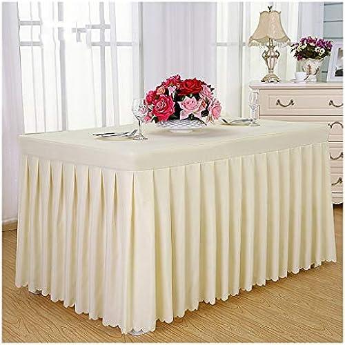 Qiao jin &Tischdecke Tischdecke Tischrock - Konferenzraum Hotel Bankett Hochzeit Tischdecke Tischdecken (Farbe   E, Größe   140  60  75cm)