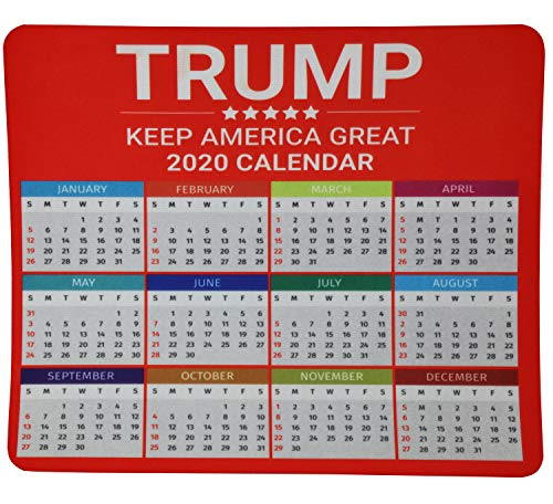Mouse Pad for Computers and Electronic Games-Trump Keep America Great 2020 Calendar Design- Gamers Mouse Pad, Functional and Non Slip Design, Perfect Mouse Pad for Laptop Computer and PC