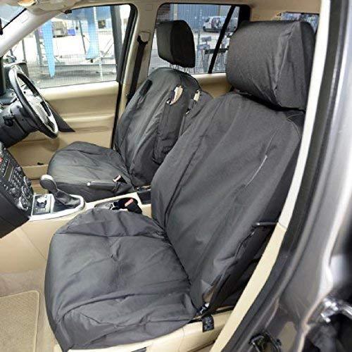 Fundas protectoras para asientos delanteros de Land Rover Freelander 2 de 2006-2015, hechas a medida, color negro