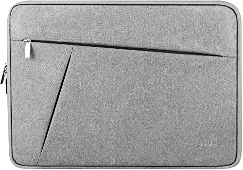 13.3 Inch Laptop Sleeve Case, Water Resistant Fleece Lining Laptop Case, Durable Briefcase Carrying Bag for 13-13.3 inch MacBook Pro, MacBook Air, Dell, HP, Lenovo, Notebook, Computer, Grey