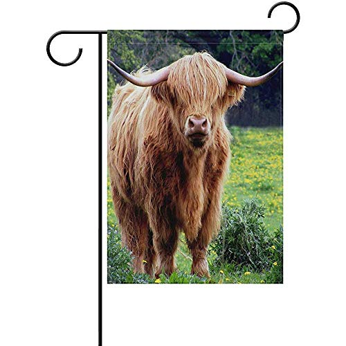 Not Applicable Kuh Bull Hörner Mantel Garten Flagge 12,5 x 18 Zoll doppelseitige Holiday Yard House Flagge Outdoor Home Decor Banner