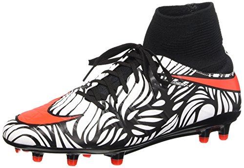 Nike Hypervenom Phatal II Df Njr Fg, équipement de football homme, Multicolore (Noir/Bright Crimson-Blanc), 42 1/2