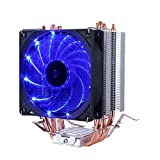 Novonest Intel CPU専用サイドフロー型CPUクーラー 青いLEDファンを搭載した 静音【C92B】
