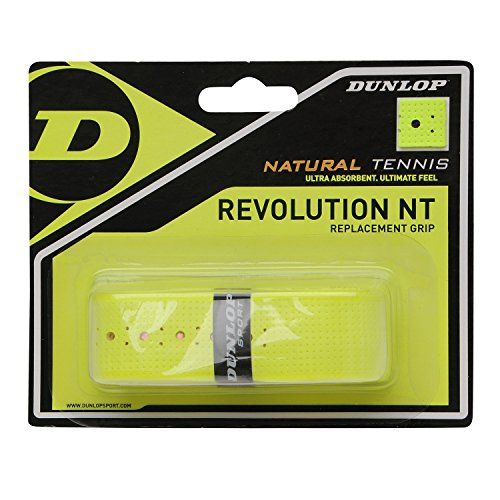 Dunlop 613236 NT Replacement Tennis Grip 1.8 mm, Giallo, 1 Pezzo
