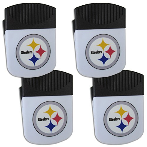 NFL Siskiyou Sports Fan Shop Pittsburgh Steelers Chip Clip Magnet with Bottle Opener 4 pack Team Color