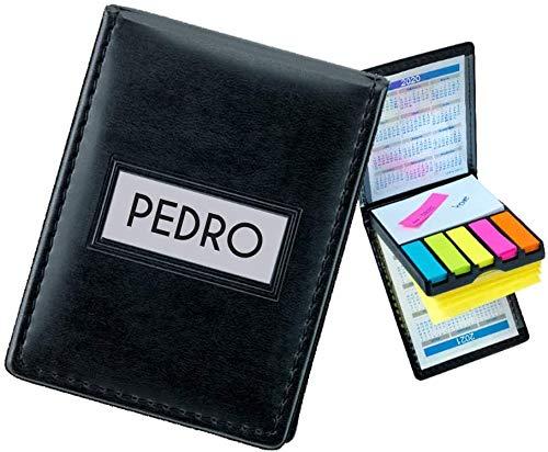 Note Set Bloc de Notas Adhesivas PERSONALIZADO (Con Nombre o Texto) · Cuaderno de Viaje con Libreta, Etiquetas Adhesivas de Colores y 2 Calendarios (2020/2021) · Cuaderno de Notas en Cuero PU